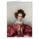 Portrait of George Sand  1830 Greeting Card