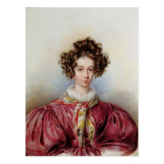 Portrait of George Sand  1830 Postcard