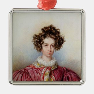Portrait of George Sand  1830 Silver-Colored Square Decoration