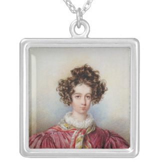 Portrait of George Sand  1830 Silver Plated Necklace