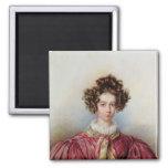 Portrait of George Sand  1830 Square Magnet