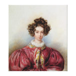 Portrait of George Sand  1830 Stretched Canvas Prints