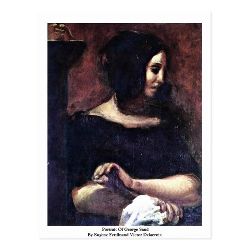Portrait Of George Sand Post Card