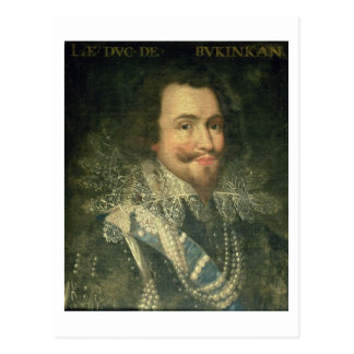 Portrait of George Villiers, 1st Duke of Buckingha Postcard