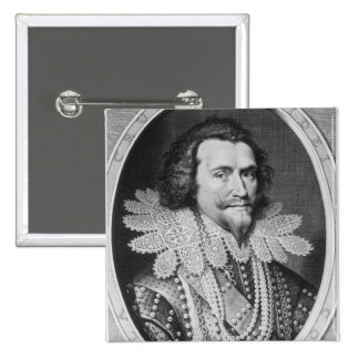 Portrait of George Villiers 15 Cm Square Badge