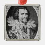 Portrait of George Villiers Christmas Ornament