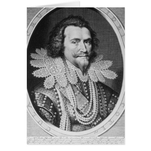Portrait of George Villiers Greeting Card