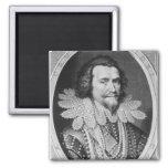 Portrait of George Villiers Square Magnet
