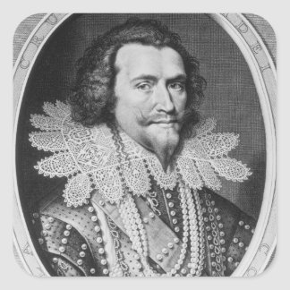 Portrait of George Villiers Square Sticker