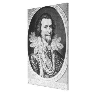 Portrait of George Villiers Stretched Canvas Prints