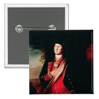 Portrait of George Washington  1772 15 Cm Square Badge