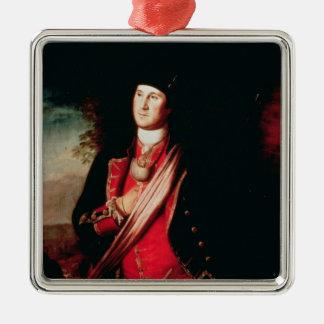 Portrait of George Washington  1772 Silver-Colored Square Decoration