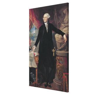 Portrait of George Washington, 1796 Canvas Print