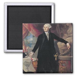 Portrait of George Washington, 1796 Square Magnet