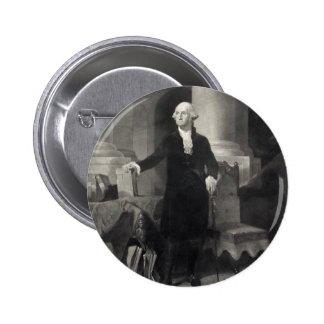 Portrait of George Washington button