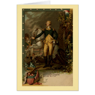 Portrait of George Washington Card
