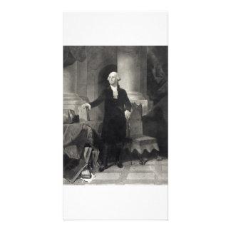 Portrait of George Washington collector photo card