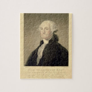Portrait of George Washington, engraved by William Jigsaw Puzzle