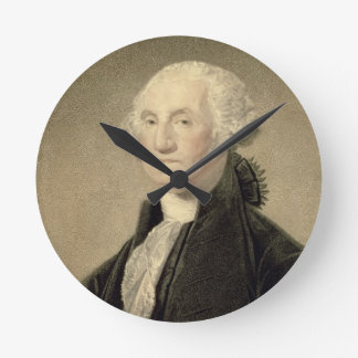Portrait of George Washington, engraved by William Round Clock