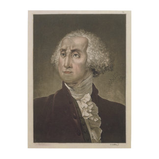 Portrait of George Washington, from 'Le Costume An Wood Wall Decor