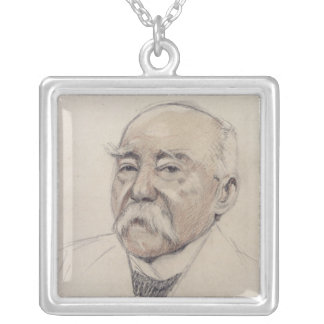 Portrait of Georges Clemenceau Silver Plated Necklace