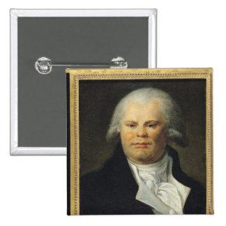 Portrait of Georges Danton 15 Cm Square Badge
