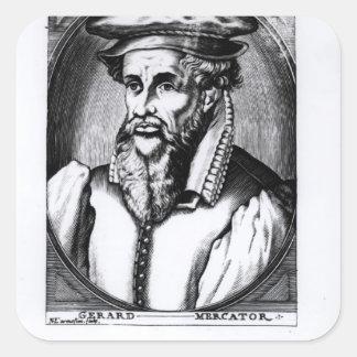 Portrait of Gerard Mercator Square Sticker