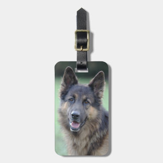 Portrait of German Sheppard Luggage Tag