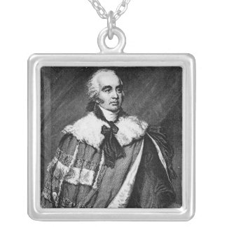 Portrait of Gilbert Eliot Silver Plated Necklace