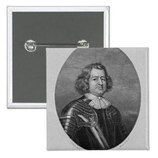 Portrait of Giles Strangeways 15 Cm Square Badge
