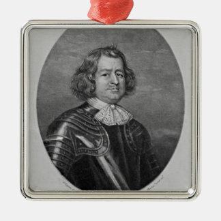 Portrait of Giles Strangeways Silver-Colored Square Decoration