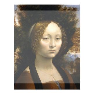 Portrait of Ginevra de Benci by Leonardo da Vinci Flyers