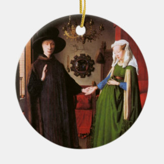 Portrait of Giovanni Arnolfini and his Wife Christmas Ornament