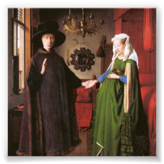 Portrait of Giovanni Arnolfini and his Wife Photo Print