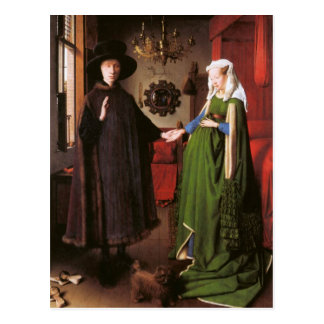 Portrait of Giovanni Arnolfini and his Wife Postcard
