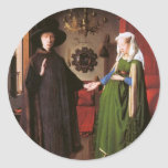 Portrait of Giovanni Arnolfini and his Wife Round Sticker