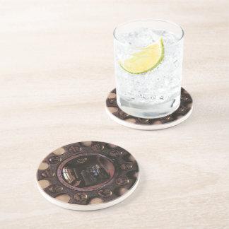 Portrait of Giovanni Arnolfini & Wife (detail) Drink Coasters
