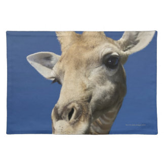 Portrait of Giraffe (Giraffa Camelopardalis) Place Mat