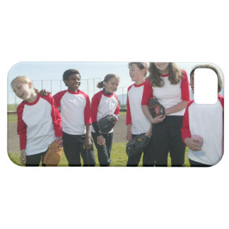 portrait of girl softball team iPhone 5 case
