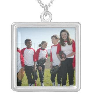 portrait of girl softball team pendant