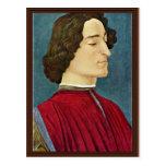 Portrait Of Giuliano De 'Medici By Botticelli Sand Postcard