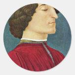 Portrait Of Giuliano De 'Medici By Botticelli Sand Sticker