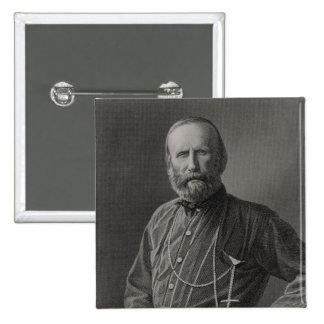 Portrait of Giuseppe Garibaldi 15 Cm Square Badge