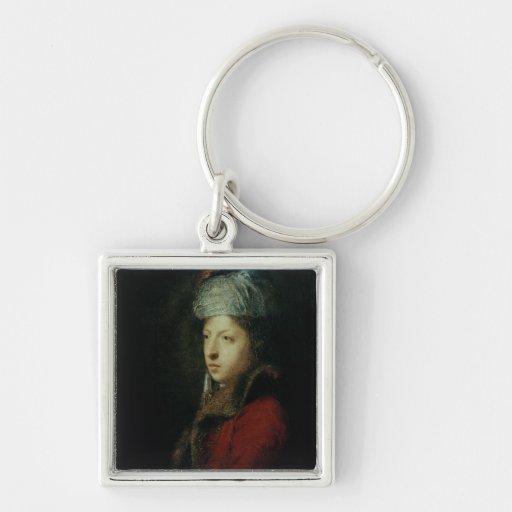 Portrait of Giuseppe Marchi  1753 Key Chain