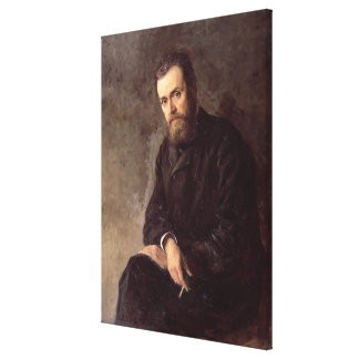 Portrait of Gleb I. Uspensky  1884 Canvas Print