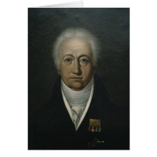 Portrait of Goethe, 1816 Card