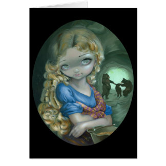 """Portrait of Goldilocks"" Greeting Card"
