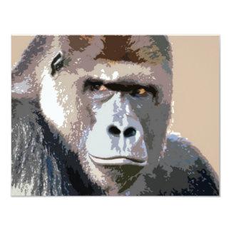 Portrait of Gorilla 11 Cm X 14 Cm Invitation Card