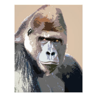 Portrait of Gorilla 21.5 Cm X 28 Cm Flyer