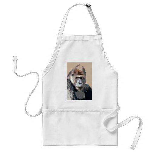 Portrait of Gorilla Apron